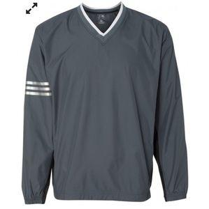Adidas climaproof golf v-neck wind shirt